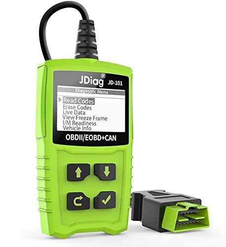 OBD2 Diagnosegerät, Diagnosegerät Auto OBD II Code Scanner Fahrzeug Fehlercodeleser arbeitet an Allen Autos mit OBD2 / EOBD/CAN-Modi und 16-Pin OBDII-Schnittstelle/Batterie Test