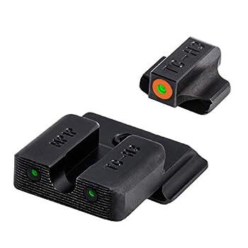 TRUGLO Tritium Pro Glow-in-The-Dark Handgun Night Sights for Smith & Wesson Pistols S&W M&P SD9 and SD40 Orange Ring One Size