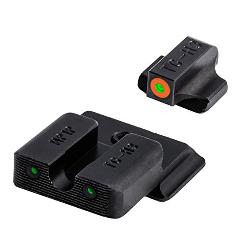 TRUGLO Tritium Pro Glow-in-The-Dark Handgun Night Sights for Smith & Wesson Pistols, S&W M&P, SD9 and SD40, Orange Ring, One Size