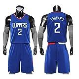 Camiseta de baloncesto para hombres- # 2 Kawhi Leonard Los Angeles Clippers Camiseta sin mangas unisex Sudadera para niños Traje de entrenamiento de bordado de jersey de atleta Set 2XS-5XL El mejor r