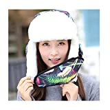 LGQ-HW Winter Catcher Hat, Super Warm Ski Ear Masks Women Adults Plush Winter Christmas Leifeng Cap Clothing Accessories (Color : Black)