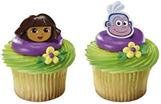 Dora the Explorer and Boots Cupcake Rings - 24 pcs by DecoPac