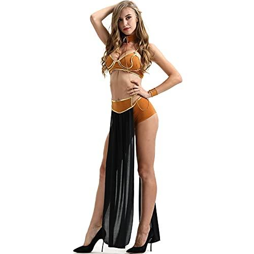 CWAIXXMM Cosplay de Halloween, Disfraz de Halloween Tallas de Halloween Cosplay Etapa de Rendimiento Cleopatra Princess Moya,XL
