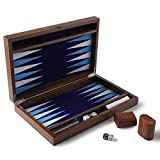 HOLYKING Backgammon Set with Travel Carrying Case for Kids and Adults- 19' x 15' Wooden Classic Board Game Case