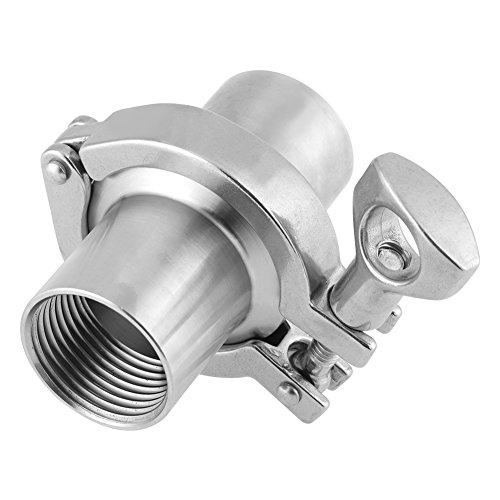 Tube OD 2 51MM Tri Clover Sanitary Spool With 64MM Ferrule L/änge 4-24 NEU Edelstahl SS316 Rohr Rohrverbinder 12-51mm