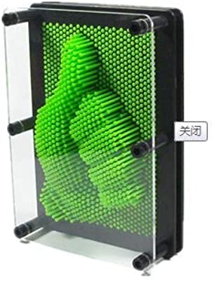 HXPBJ Adornos Escultura Figura De Bronce Juguete De Plástico Diyclone Forma Pin Arte Shoumo Colorido Aguja Niño Obtener Cara Palma Modelo Decoración Regalos: Amazon.es: Hogar