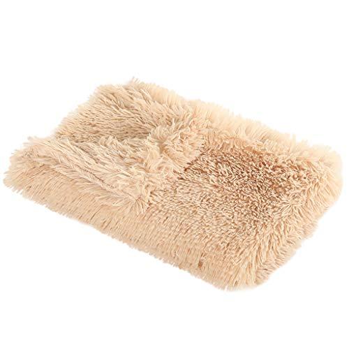 Cloodut Manta autocalefactable para gatos y perros, tamaño: 100 × 75 cm, innovadora y respetuosa con el medio ambiente, manta para gatos (marrón, M)