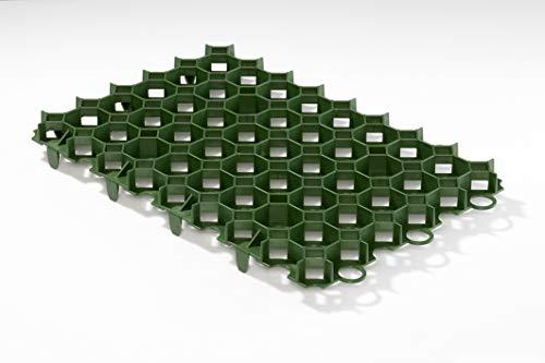 Kunststoff Rasenwabe 56 x 38 cm grün 10er Set für Bodenbefestigung ohne Versiegelung von Hofeinfahrten, PKW-Stellplätzen, Carports und Gehwege