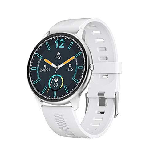 Fitness Tracker Smart Watch 1.3 pulgadas pantalla táctil completa Actividad Tracker sueño Tracker contador calorías IP68 impermeable podómetro blanco