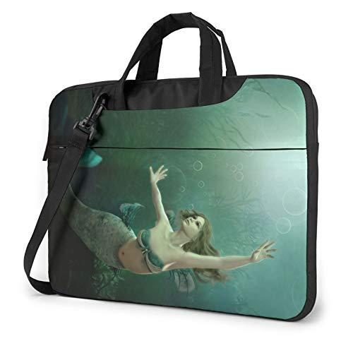Mermaid Underwater Life Print Laptop Sleeve Compatible with 13-15.6 Inch, Notebook Computer Briefcase Bag