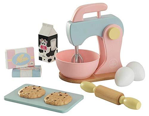 KidKraft - Set de cocina de juguete con batidora y accesorios para repostería, de madera, Color Multicolor (63371)