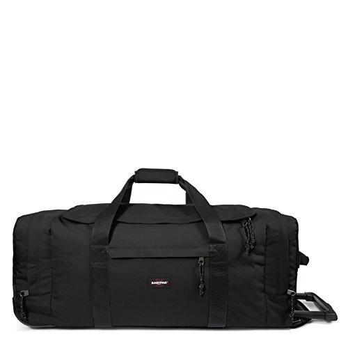 Eastpak Leatherface L Equipaje de ruedas, 98 litros, Negro (Black)