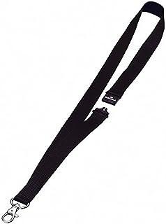 DURABLE 813701 Lacet Textile Attache Mousqueton Système Sécurité 20x44cm Lot de 10 Noir
