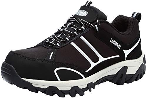 LARNMERN Sicherheitsschuhe Arbeitsschuhe Herren, Sicherheit Stahlkappe Stahlsohle Anti-Perforations Luftdurchlässige Schuhe, Schwarz L9115, 44 EU