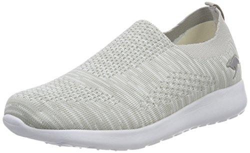 KangaROOS Unisex-Erwachsene K-Rick Slip Slip On Sneaker, Grau (Grey), 41 EU