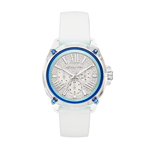 Michael Kors Damen Analog Quarz Uhr mit Silikon Armband MK6679