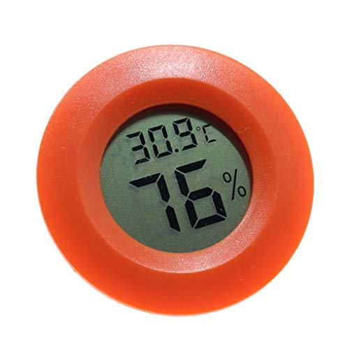 censhaorme Mini praktische Digitale Indoor Thermometer Runde Hygrometer Temperatur Luftfeuchtigkeit Meter LCD-Anzeige