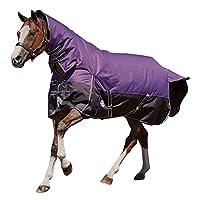 (ウェザビータ) Weatherbeeta 馬用 Comfitec プラスライト ダイナミック コンボネック ターンアウトラグ 馬着 乗馬 ホースライディング (7フィート 3) (パープル/ブラック)