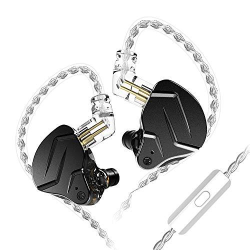 KZ ZSN Pro X Auriculares internos con Cable Auriculares DIY 1BA + 1DD Controlador híbrido HiFi DJ Monitor Running Sport Earbud