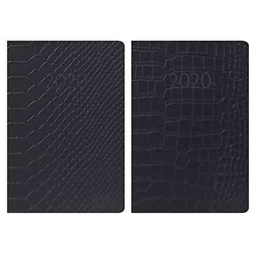 Tallon - Agenda 2020 de bolsillo, piel sintética con textura en relieve, 1 unidad