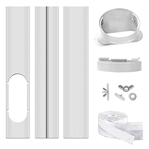 Bigbiglife Kit di Piastre di Tenuta per Finestra per Condizionatore d'Aria Portatile, Kit di Sfiato per Finestra AC Portatile, Universale per Tubo di Scarico da 5,9 Pollici