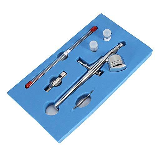 Kit de aerógrafo, gravedad de alimentación de doble acción aerógrafo pistola de pintura para decoración de tortas/maquillaje/arte de uñas (470T)