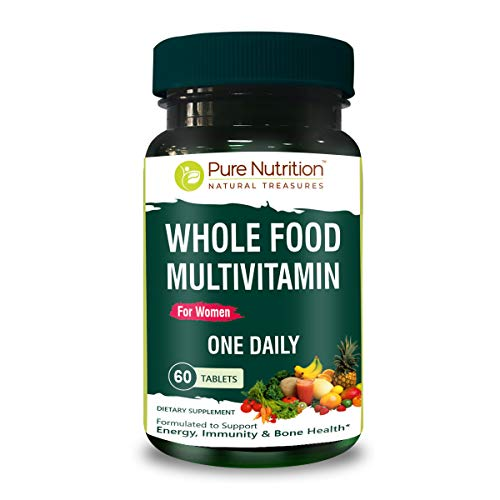 Pure Nutrition Whole Food Multivitamin for Women 1500mg. All Natural Plant...