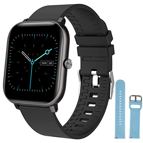 Smart Watch for Men and Women, DOACE Smartwatch with 1.4' HD Touch Screen, Fitness Tracker with Heart Rate Monitor Blood Oxygen Meter Sleep Step Tracking, Fitness Watch for iPhone Android Phones
