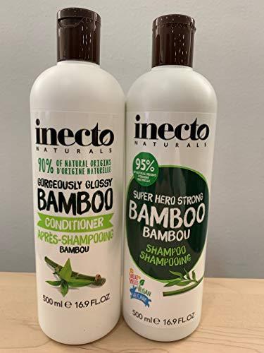 Inecto Naturals - Pack de Champú de Bambú + Acondicionador de Bambú