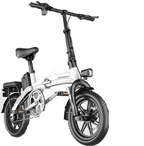 REWD 714' Electric Bicycle/Commute Ebike with Frequency Conversion High-Speed Motor, 48V 8Ah Battery (White)