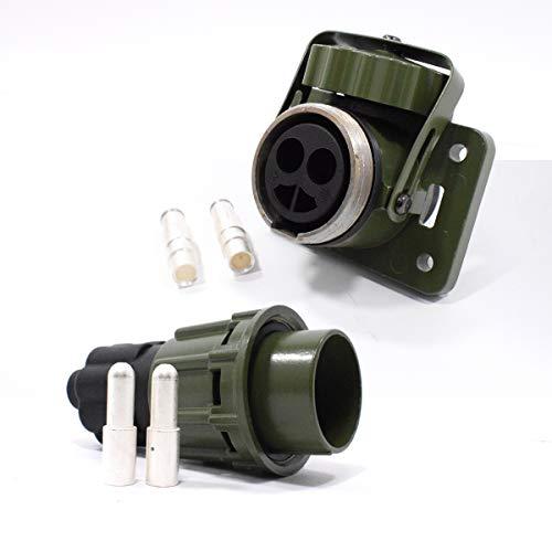 Easy Link NATO Steckdose Stecker + Buchse 24V 35mm² 2 polig Feuerwehr Bundeswehr LKW