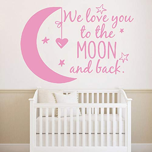 XCSJX Cute love you quote wall sticker wallpaper for girls bedroom baby stickers kids room vinyl wallpaper phrase stickers 92x131cm