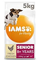 Senior dog food for small and medium breeds with up to 85 percent of animal protein to support seven signs of healthy vitality Wheat free pet food with no fillers, artificial colours, flavours or GMOs Antioxidant blend with Vitamin E to help support ...