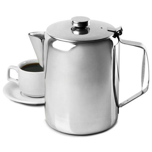 Genware 11000 koffie-/theepot, spiegel, 100 oz, 3 l