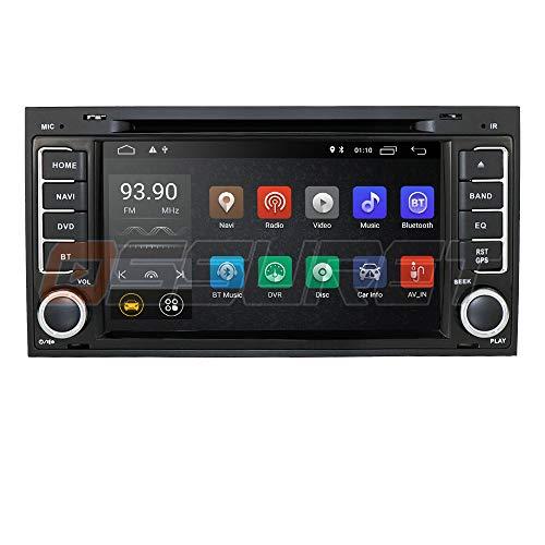Android 10 Radio de Coche con Bluetooth GPS de navegación Radio de Reproductor de DVD de Coche Compatible con VW Touareg 2004-2011 Transporter 2004-2009 T5 Multivan 2004-2009