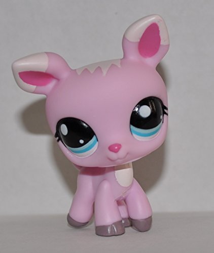 Deer #1819 (Pink, Blue Eyes) - Littlest Pet Shop (Retired) Collector Toy - LPS Collectible Replacement Single Figure - Loose (OOP Out of Package & Print)