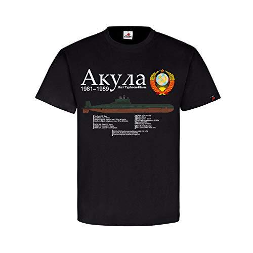 U-Boot Typhoon-Klasse Projekt 941 Akula ????? Hai Sowjetunion T-Shirt#32057, Größe:XL, Farbe:Schwarz