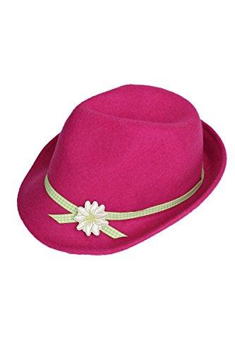 Isar-Trachten Isar-Trachten Damen Damen Trachtenhut mit Blume pink, pink, 49