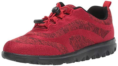 Propet Women's TravelActiv Aero Sneaker, Red, 6 Wide