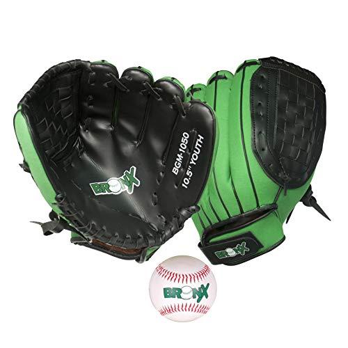 Bronx Unisex, Jugendliche Hybrid Glove Catch Set-Junior Baseball-Handschuh, schwarz/grün