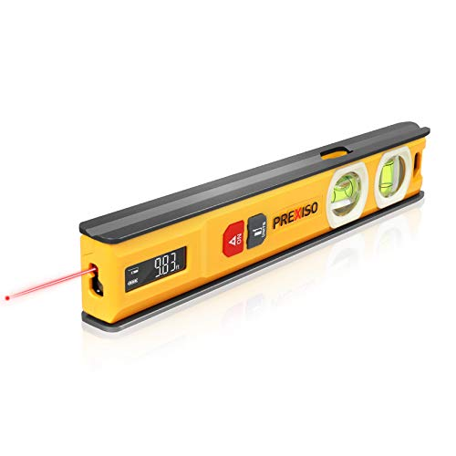 PREXISO 2-in-1 Laser Measure and Torpedo Level, 65ft Laser Distance Measure Built-in 8-inch Aluminum Alloy Magnetic Level