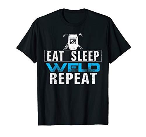 Essen Schlaf Schweißen Wiederholen Hemd Lustig Schweißer T-Shirt