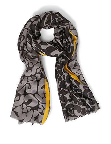 Street One Damen 571325 Mode-Schal, Black, One Size