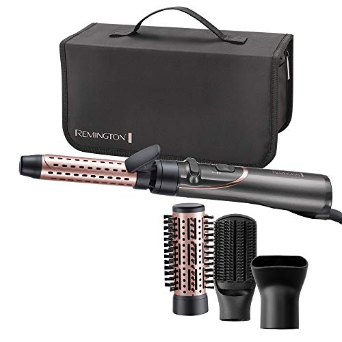 Remington Warmluftbürste rotierend (automatisch) Curl & Straight 3-in-1 Ionen Styler: Volumen, Locken & glatte Styles, 4 Aufsätze (Volumenstyler, Lockenstab, Stylingkonzentrator, Paddlebürste) AS8606