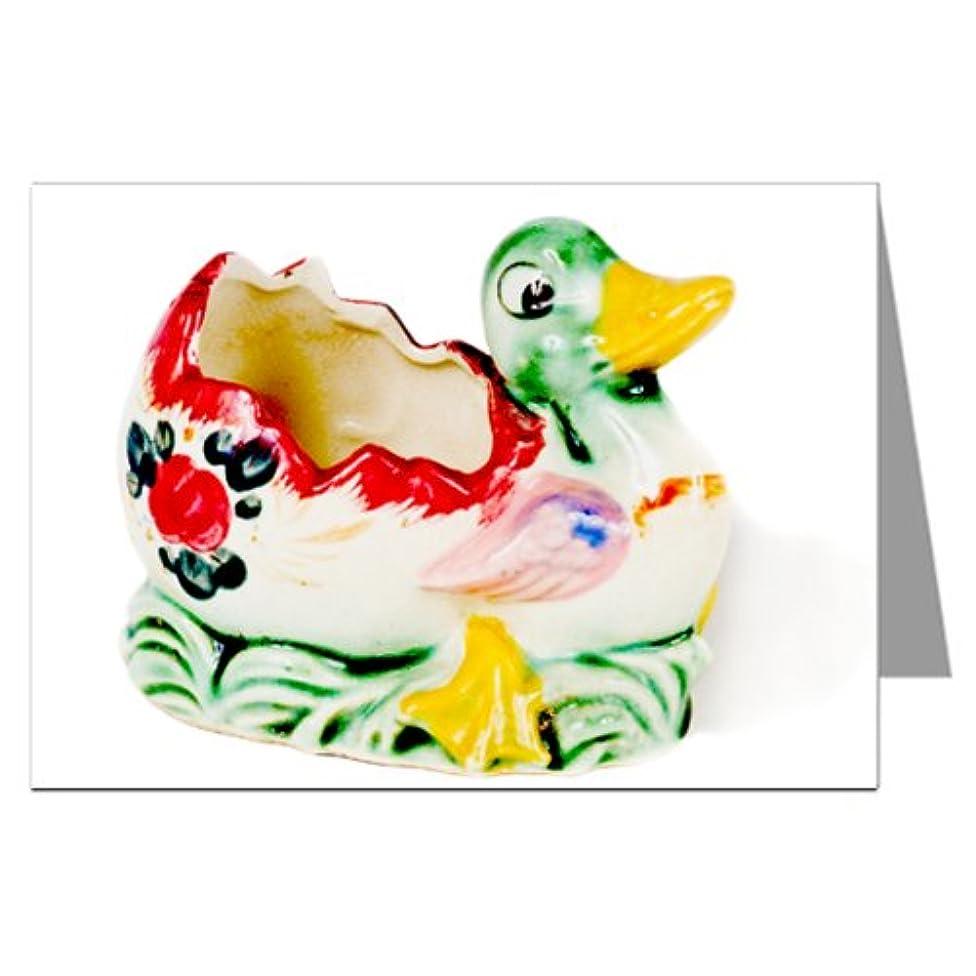 Vintage Kitsch Ceramic Duck Collectible Notecard Set