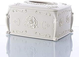 Vintage Tissue Box Cover, Cube Tissue Box Holders Skrzynka Dispecker Dispenser Case, prostokątne pudełko na tkankę kosmety...