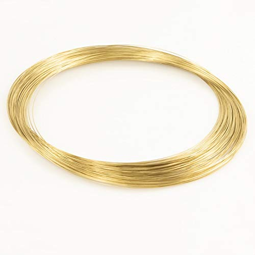 H62 Alambre de latón Conductivo Golden Copper Line Rod Industria Experimento DIY Alambres Material 1mm Diámetro, 10 Metros