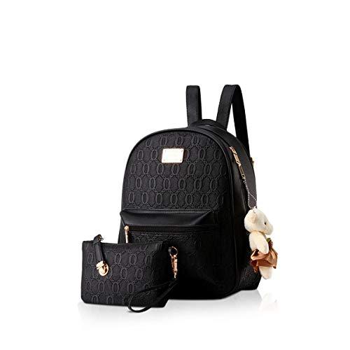 NICOLE&DORIS Rucksack für Damen Mode Rucksack Anti-Diebstahl Schultaschen Daypack Damen Handtaschen 2er Mädchen Rucksack Set