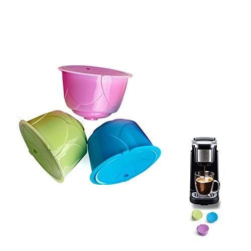 Nullnet Filtro de café Reutilizable, Colorida cápsula de café Recargable, Universal, Compatible...