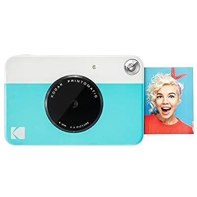 Kodak PRINTOMATIC Digital Instant Print Camera (Light Blue), Full Color Prints On Zink 2x3 Sticky-Backed Photo Paper - Print Memories Instantly from Kodak